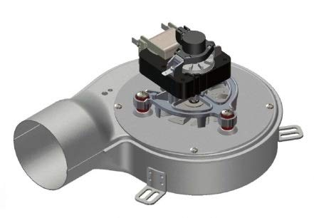 Extractor de humos, estufa, pellet, ventilador + encoder universal, 40W d.80Clase H.