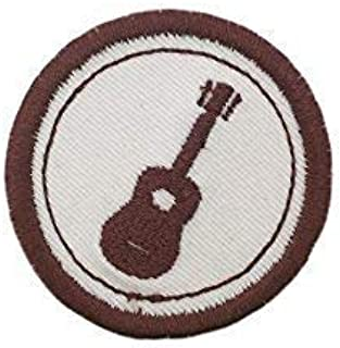 """Merit Badge Patch- 2"""" Iron On Guitar Patch"""