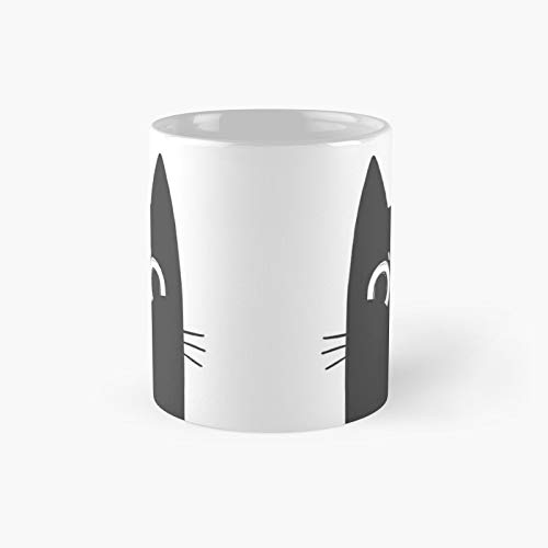 Grumpy Black Cat Classic Mug - Funny Gift Coffee Tea Cup White 11 Oz The Best Gift For Holidays.