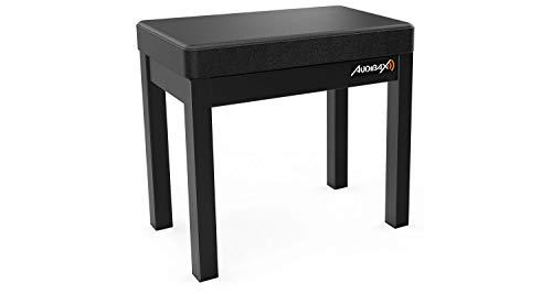 Audibax Banqueta para Piano con Espacio de Almacenamiento, Taburete Óptimo para Órgano Electrónico o Piano Eléctrico, Práctico para Guardar Partituras, Liviano Taburete de Piano Hecho en Alumi