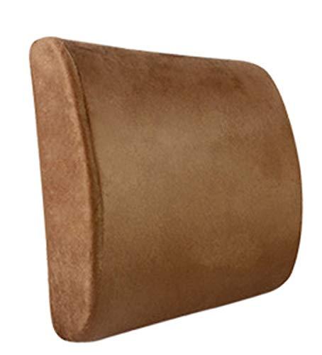 QSWL Almohada LumbarCojin Espuma Memoria Ergonomico Respaldo Lumbares Espalda para Silla Oficina, Asiento Coche, Camión, Silla Ruedas (Color : Mocha, Size : 32x30x10cm)