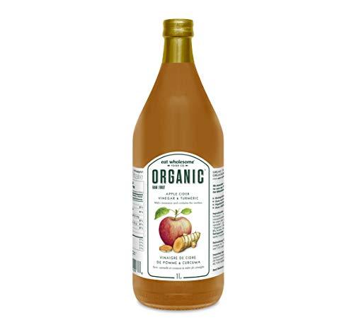 Eat Wholesome Food Co. Organic Italian Apple Cider Vinegar with Turmeric & Cinnamon, 1 L