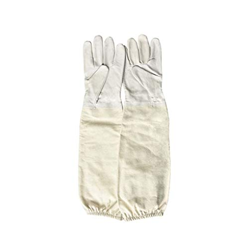 1 Paar Imker Prevent handschoenen dunne zachte lederen beschermhoes mouwen Anti Bee Bijenteelt Bijenteelt Equipment