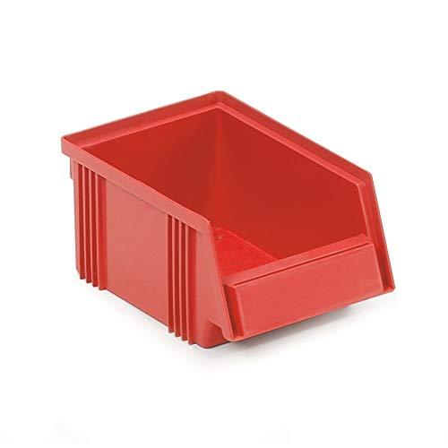 Treston 1015-5 - Cajas de almacenamiento apilables para sistema industrial (60 unidades, 105 x 165 x 75 mm), color rojo