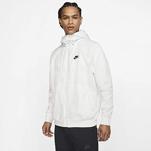 Nike Men's Sportswear 2019 Hooded Windrunner Jacket (L, SMT Wht/SMT Wht/Blk)