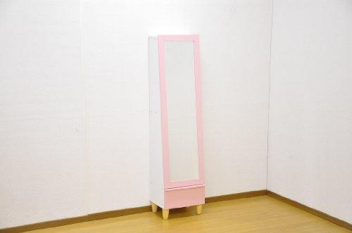 ミラー付き ドレッサー 【Charme】 シャルム 収納棚付き MTD-1540 ピンク