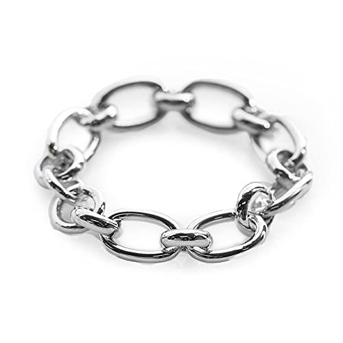 [ジュエルボックス] JewelVOX リング 指輪 レディース 7号 9号 11号 15号 チェーン 金属アレルギー対応 ニッケルフリー (【9号】シルバー)