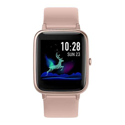 prasku Smart Watch Fitness Tracker Impermeable Contador de Pasos Llamada SMS Recordatorio Rosa
