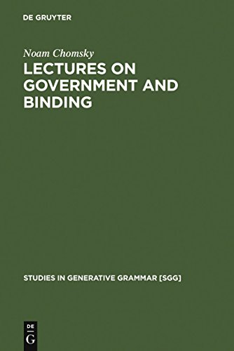 Lectures on Government and Binding: The Pisa Lectures (Studies in Generative Grammar [SGG] Book 9) (English Edition)