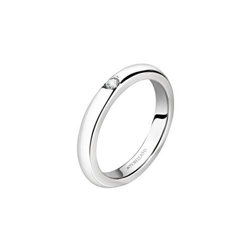 Morellato Anello unisex, Collezione Love Rings, in Acciaio, Cristallo - SNA46