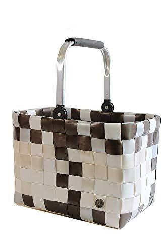 Witzgall Ice-Bag 5040 57M Bella, braun-weiß, Vintage Style, 40x28x28(47) cm, Shopper, Einkaufskorb, Einkaufstasche