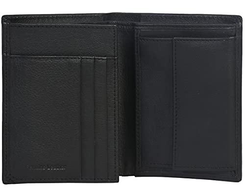 Amazon Brand - Eono - Cartera de Cuero para Mujer y Hombre con diseño Plano y protección contra Lectura RFID (Cuero napa Vacuno Negro)