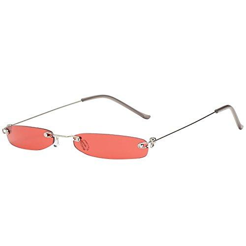 Sonnenbrillen Fashion Lila Linsen Frameless Gläser Personality Ultra Light UV-Schutz Kleiner Rahmen Sonnenbrillen Geeignet Für Outdoor-Picknick-Reisen BY YWLINK (one size, G)
