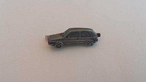 VW Golf GTI MK2ref300Zinn Effekt Auto Emblem im Krawattenklammer (Slide) handgefertigt in Sheffield kommt mit prideindetails Geschenkbox