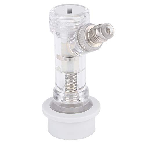 Desconexión de barril de bloqueo de bola transparente GAESHOW con válvula de retención interna, accesorios de conector de barril de cerveza, acero inoxidable + plástico