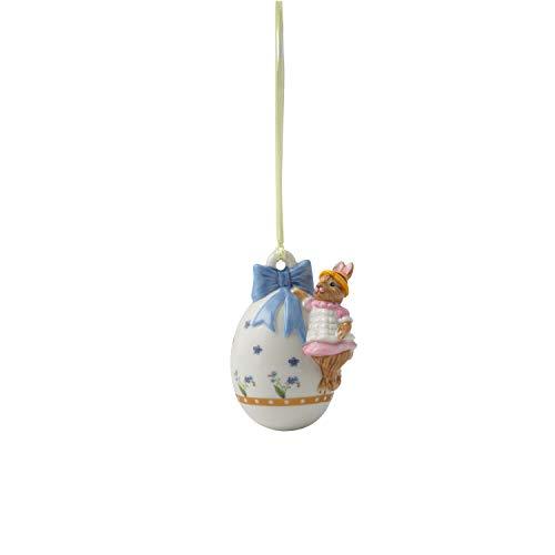Villeroy & Boch Annual Easter Edition Jahresei 2020, dekoratives Element für den Osterstrauch, Premium Porzellan, 4.5 x 6 x 7.5 cm, bunt, 4,5x6x7,5
