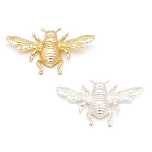 Broches Grandes de Bisutería Insectos - Pack de 2 - Ideal para Mujeres - Combinación Vestidos y Cualquier Tipo De Ropa - Calidad Española