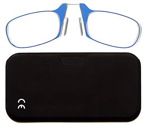 Newvision Gafas de lectura con funda, sin patillas, gafas de vista para hombre y mujer, NV1171 (+1.00, azul)