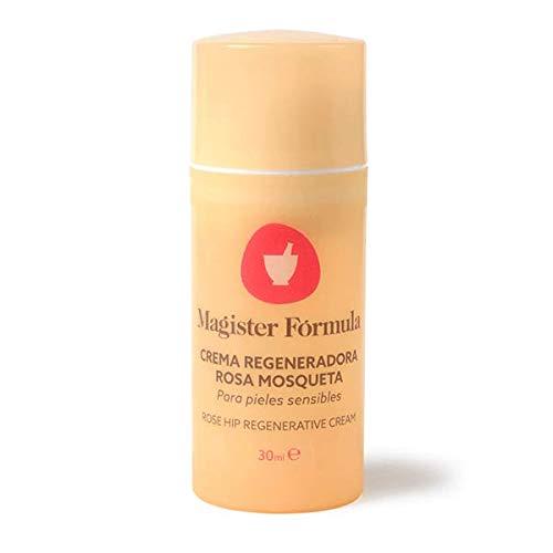 Crema Regeneradora Rosa Mosqueta 30ml | Hidratante facial con extracto de aceite 100% Puro | Pieles Sensibles | Para Mujer y Hombre | Para Día y Noche | Magister Formula