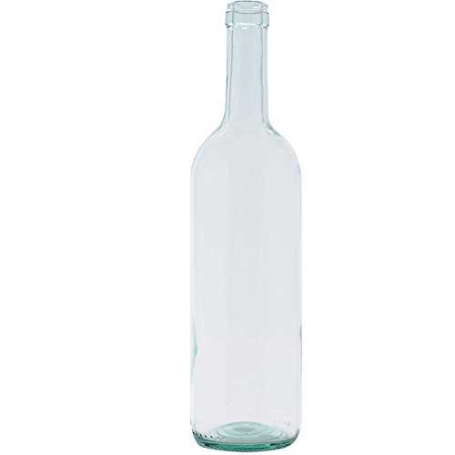 20 Bottiglia bordolese vino 750cc trasparente