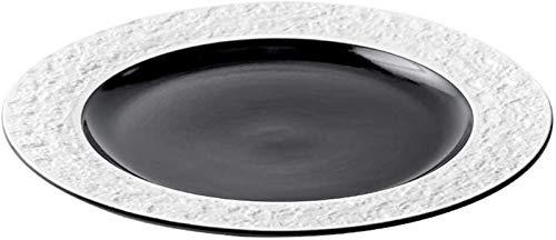 XUEXIU Home Plate Petit-déjeuner Plateau Dessert Assiette en Céramique Noire Européenne 11 Pouces Grande Plaque Cadeaux Cuisine Art De La Table (Color : Black, Size : 27.7 * 27.7 * 2.8CM)
