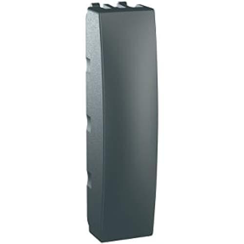 Placa de cubierta ciega 1/2 módulos serie unica top/class, color grafito (Schneider Electric MGU9.864.12)