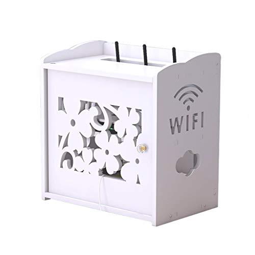 Goede decoratie Creatieve WiFi Router Multifunctionele Opbergdoos Thuis Woonkamer TV Kabinet Power Cord Afwerkingsdoos Wit Set-top Box Beugel