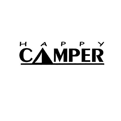 Autosticker Camping Decal Happy Camper Trailer Tent Grappige Auto Raam Bumper Vinyl Sticker Auto Accessoires