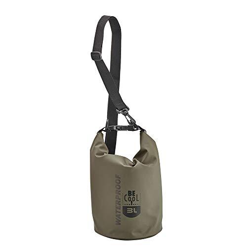 Be Cool Isolierte wasserdichte Kühltasche in Oive Grün Mini - ideal für Kosmetik oder Medizin, 17 cm Ø x 30cm H, 3 L Volumen