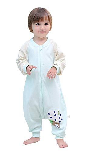 Pasen Baby Slaapzak Met Voeten En Lange Mouw Unisex Ongewatteerde Eenvoudige Stijl Pyjama Katoen Zomer Lente Kinderen Slaapzak Blauw 100 Lichaam Maat 100 110Cm