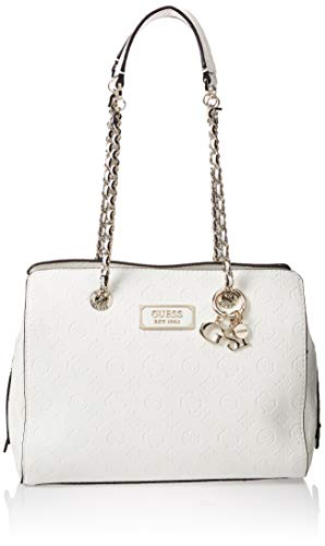 GUESS Logo Love Satchel Ivory One Size
