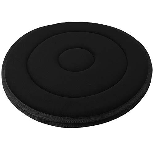 My-goodbuy24 Drehkissen - 360° drehbar - hochwertige verarbeitung - Sitzkissen - Einstiegshilfe - Rutschfeste Unterseite - super weiche sitzfläche - schwarz - rund - Ø 38,5cm - bis 130kg max.