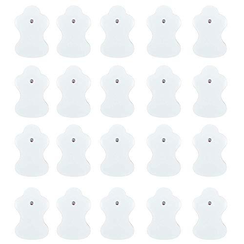 JOINVALUE Almohadillas de repuesto para electrodos compatibles con dispositivos Omron TENS, paquete de 20 unidades (10 pares)