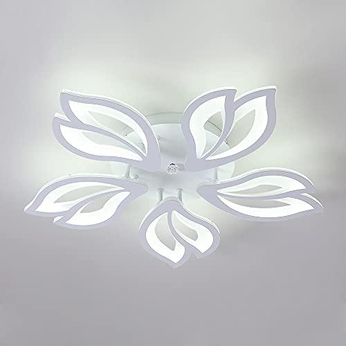 Osairous Lámpara de Techo LED, 65W Candelabro con Forma de Flor Creativa, Ø57cm Plafón LED de Acrílico para Dormitorio, Sala de Estar, Estudio de Oficina, Dos Colores 3000K a 6500K