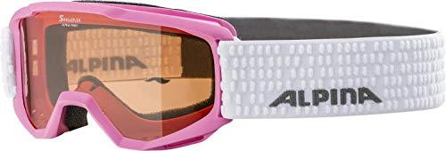 ALPINA PINEY Skibrille, Kinder, rose-white, one size
