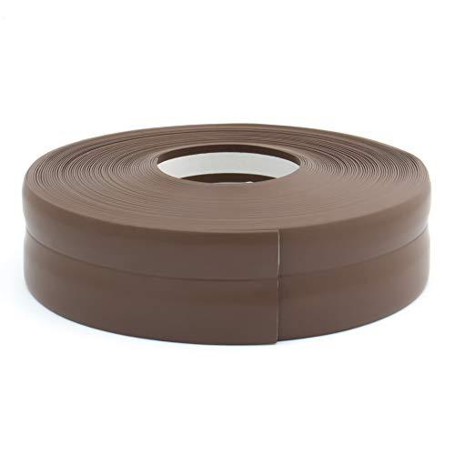 Rodapié flexible de PVC, 32x 23mm,en forma de listón, de fácil montaje.