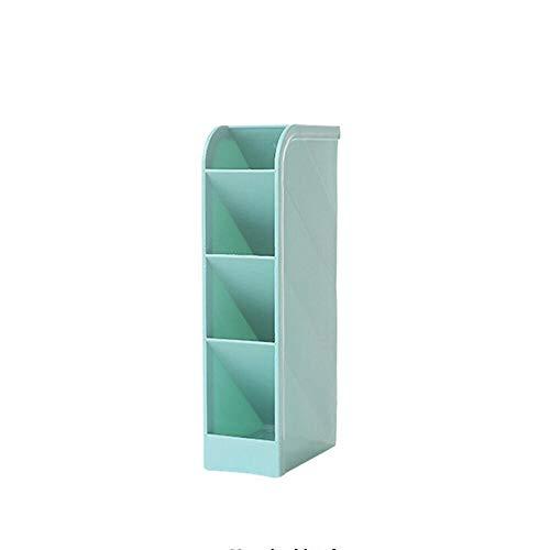 siming713 Creative 4 GEA Grid Caja de Almacenamiento de Escritorio de plastico Bandeja de Almacenamiento de cosmeticos de Escritorio de Oficina Bandeja de Almacenamiento de cosmeticos@Azul