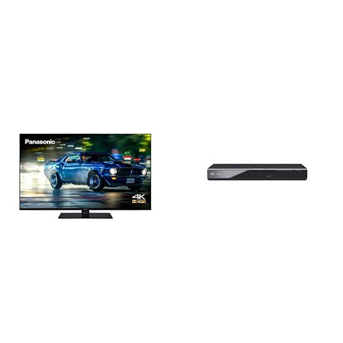 Panasonic TX-43HX600BZ 43 Inch 4K Multi HDR LED LCD Smart TV with Dolby Vision and Dolby Atmos + DVD-S700EB-K DVD Player with Multi Format Playback