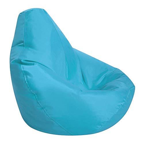 Bean Bag Bazaar Kids Gaming Chair, Indoor Outdoor Bean Bags, Aqua, 69cm x 59cm, Large, 1 Pack