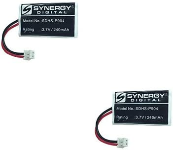 Synergy Digital Cordless Phone Batteries, Works with AT&T BT191545 Cordless Phone, Combo-Pack Includes: 2 x SDHS-P904 Batteries