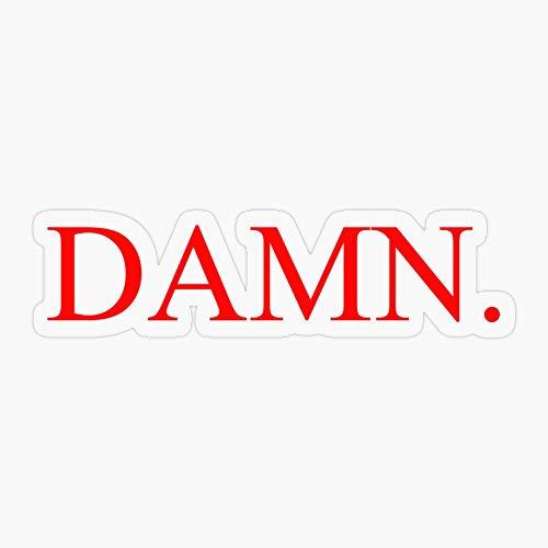 Lplpol 3 Stück Premium Anti-Staub Vinyl Aufkleber/Sticker Kendrick Lamar - Damn. Aufkleber Vinyl Aufkleber Auto Laptop Aufkleber Wasserflasche Aufkleber 4 Zoll