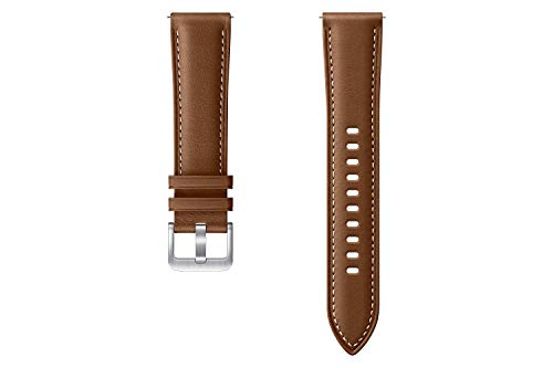 SAMSUNG Stitch Leather ET-SLR85 - Correa de Reloj Galaxy Watch3 con 20 mm de Ancho, Correa de Piel auténtica, Color marrón