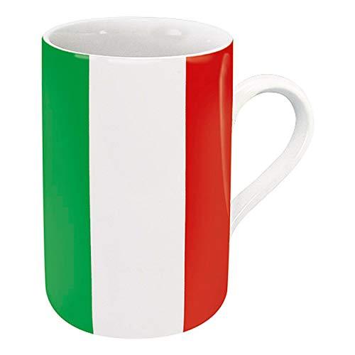 Könitz Flaggenbecher Italien, Becher, Tasse, Kaffeetasse, Porzellan, Italienische Flagge, 310 ml, 11 1 003 0983