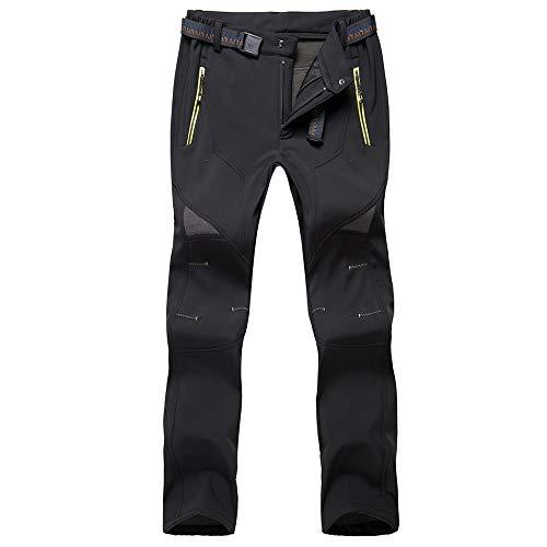 Okay Pantalones De Trekking Hombre Impermeables Pantalones Softshell Pantalones Pantalones con Forro Polar Pantalones De Escalada De Esquí De Senderismo De Montaña