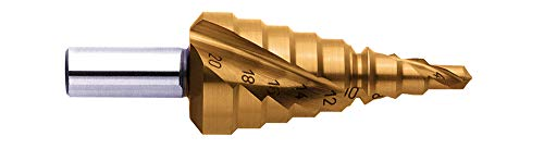 Exact 07012 Punta a gradini, Ø 4-12/4-20/6-30 mm, Pasta a Spirale, Hss, Titan PRO, Rotastop, Ø 4-12/4-20/6-30mm, Spiralnute