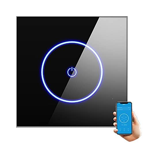 MEILINL Interruptor Inteligente Wi-fi para Luces Y Verjas Compatible Compatible con La Mayoría De Asistentes Inteligentes Control Remoto De App Placa Táctil De Vidrio Templado