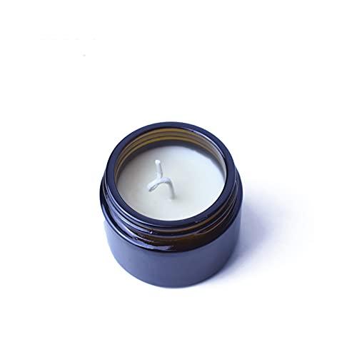 YICHEN Vela de aromaterapia pequeña Botella marrón Taza de Prueba Vela de Cera de Soja Fragancia Creativa de Regalo de Mano de Boda,Cítricos