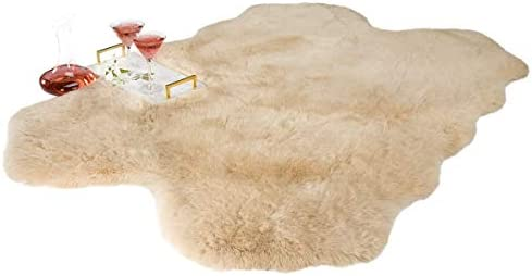 Chesserfeld Luxury Faux Fur Sheepskin Rug Camel 4ft x 6ft with Thick Pile Machine Washable Makes product image