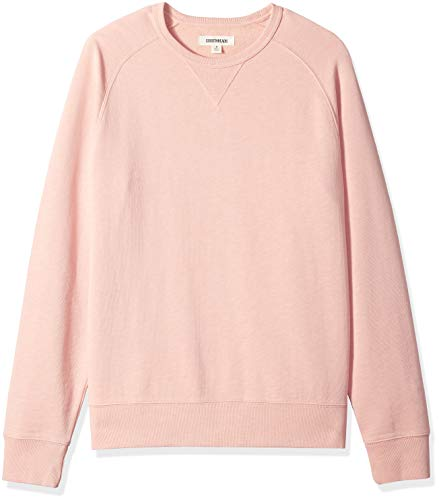 Amazon Brand - Goodthreads Men's Crewneck Fleece Sweatshirt, Coral, Medium