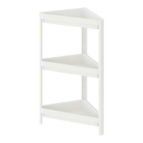 IKEA VESKEN Eckregal, Badregal weiß 33x33x71 cm